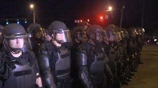 Rifle wielding Baton Rouge police shutdown anti-brutality protest