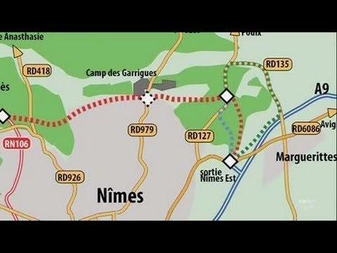 Transport la dviation nord Nmes YouTube