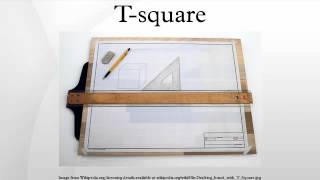 A T-square is a technical drawing instrument used by draftsmen prim...
