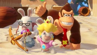 Mario + Rabbids - Donkey Kong Adventure DLC Walkthrough Part 10 - Banana Lagoon Challenges