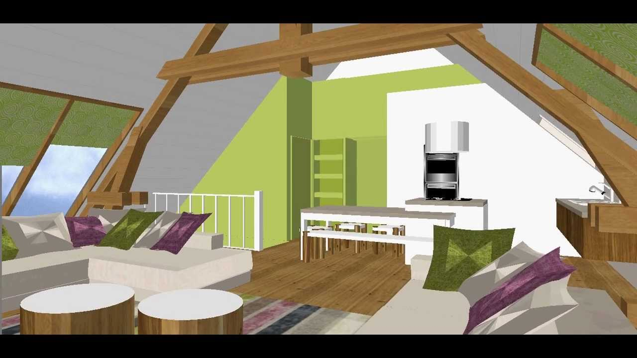 am nagement d 39 un loft dans des combles youtube. Black Bedroom Furniture Sets. Home Design Ideas