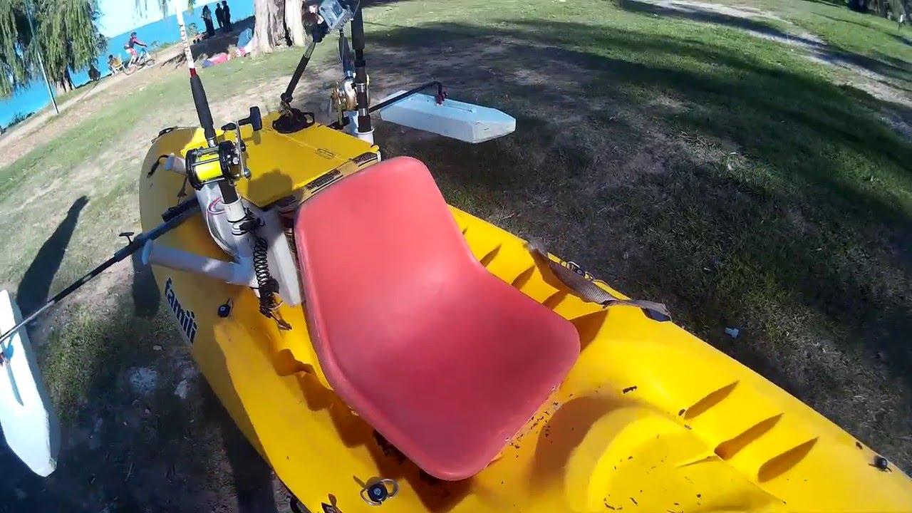 Estabilizador casero para mi kayak parte1 youtube for Sillas para kayak