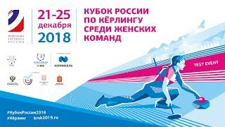 Кубок России по кёрлингу среди женских команд  Московская область 2 х Свердловская область.