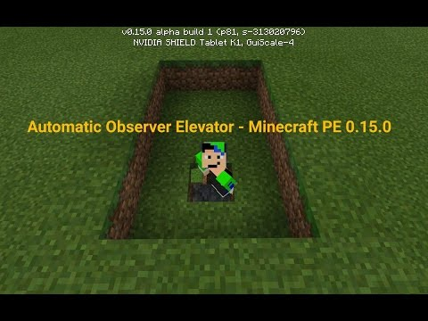 how to build a elevator in minecraft pe