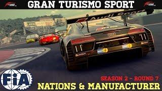 GT Sport - FIA Season 2 Round 7 (Nations & Manufacturer)