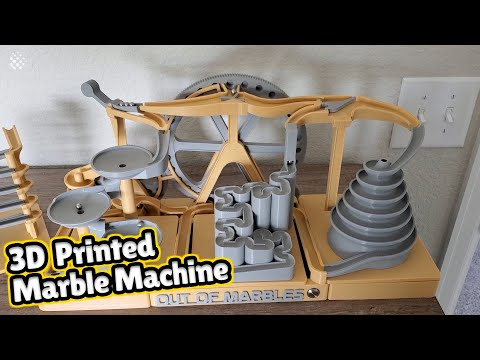 3D Printed Marble Machine That Works Autonomously