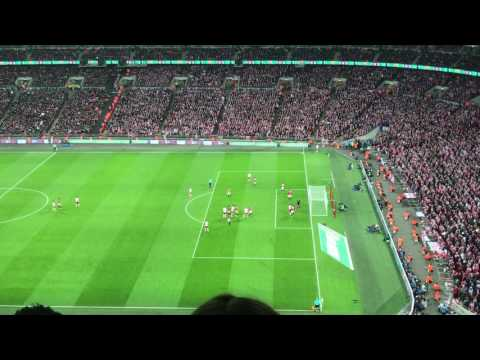 Zlatan Ibrahimovic Cup Winning Goal at Wembley 3-2 Manchester United Fan View EFL Cup Final