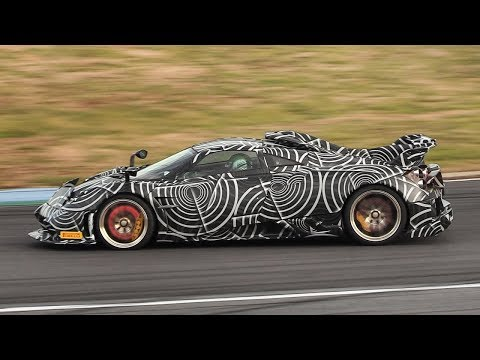 2020 Pagani Huayra Imola Test Mule in action on track!