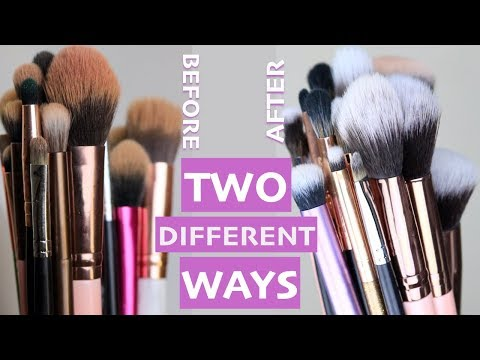 HOW TO: CLEAN MAKEUP BRUSHES | MagdalineJanet