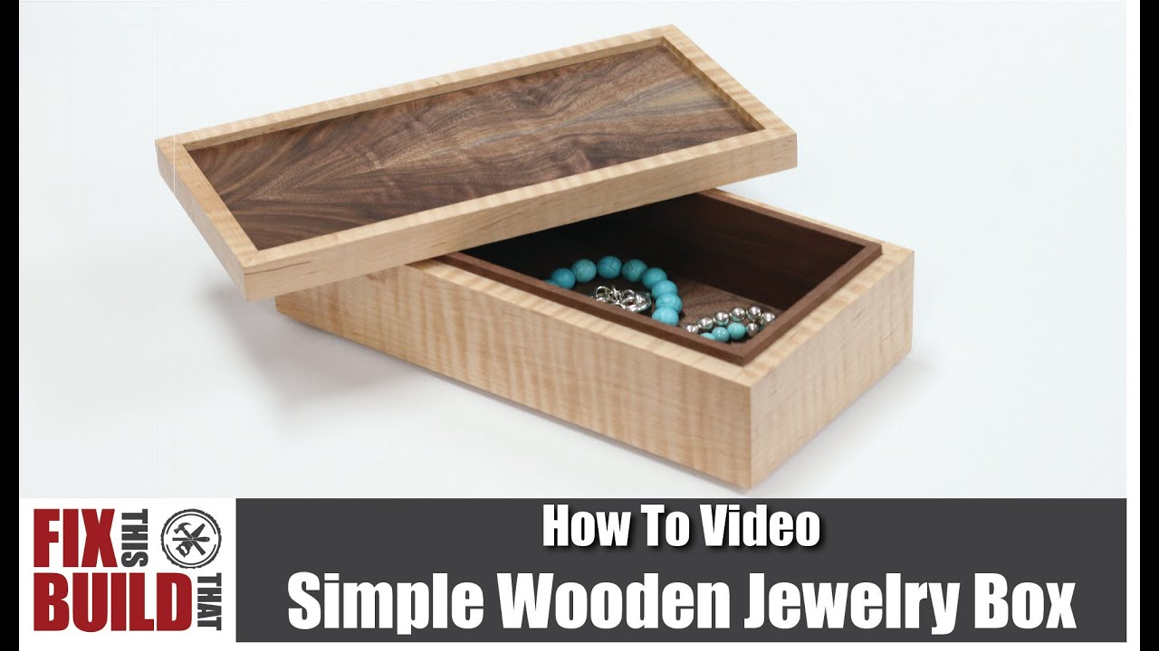 Simple wooden jewelry box how to build youtube for How to make a ring box out of wood
