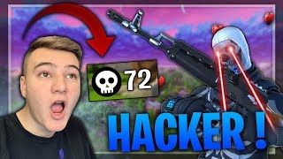 JE RÉAGIS AUX PIRES HACKERS SUR FORTNITE BATTLE ROYALE !! (INCROYABLE)