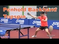 Penhold Backhand Topspin Techniques