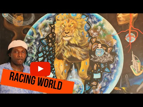 Racing World Painting Video Documentary by Artist Mbeng Pouka