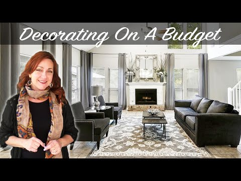 DECORATING IDEAS ON A BUDGET | Modern Glam Farmhouse Before and After **Interior Design Makeover**