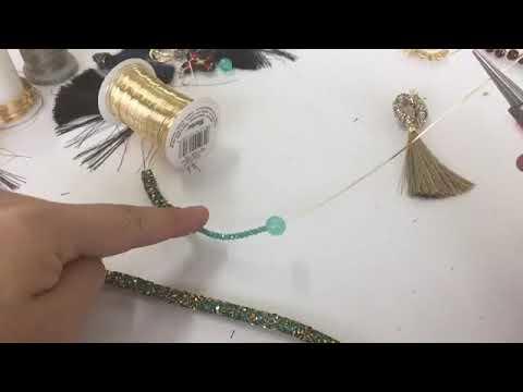 Aprendiendo a hacer aretes de moda