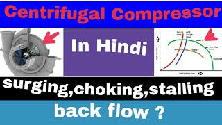 Surging , Choking and stalling In Centrifugal