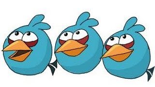 How to draw Angry Birds The Blues, Blue Birds