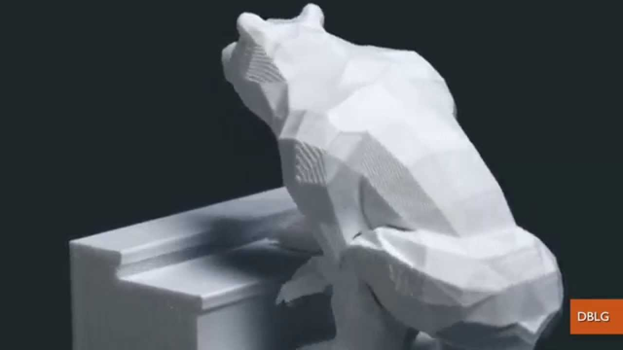 D Printing Used To Create Impressive Bears On Stairs Animation - 3d printed stop motion animation bear stairs