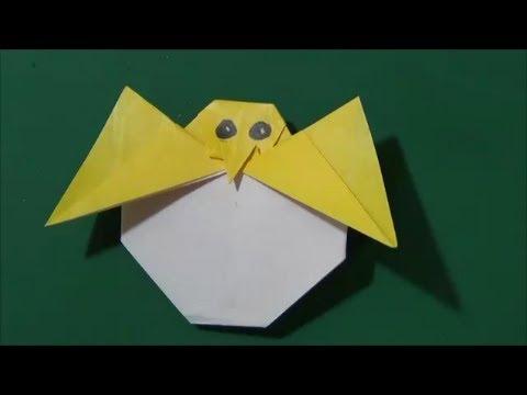簡単 折り紙:折り紙 ひよこ-youtube.com