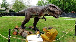 Динозавры Парк Культуры и отдыха Резекне