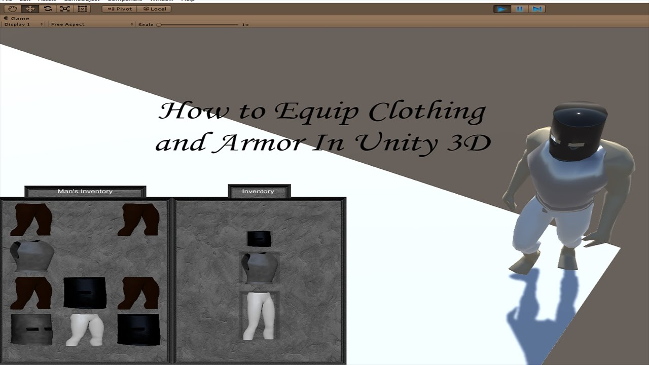 How to Equip Clothing and Armor in Unity 3D