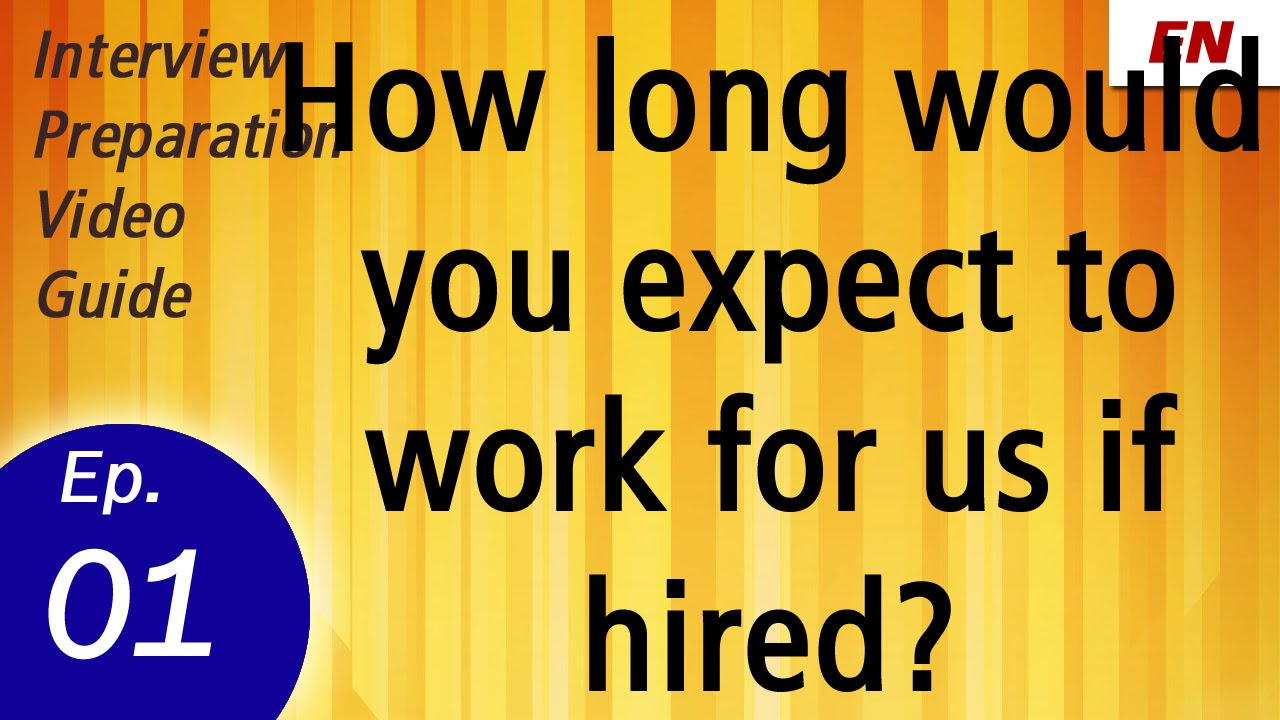 How Long Would You Work For Us If Hired | Interview Question And Answer By  Shalu Pal