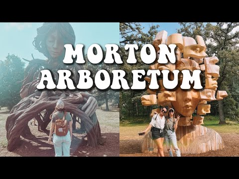 THE MORTON ARBORETUM HUMAN + NATURE EXHIBIT | CHECKING OUT THE CHILDRENS GARDEN | WINE + ART WALK ????