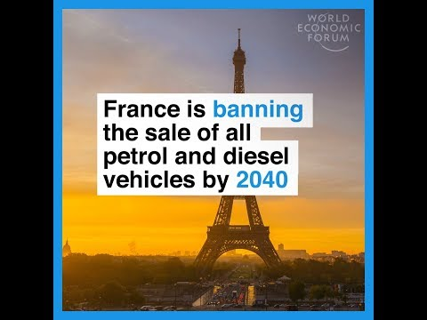 France is banning the sale of all petrol and diesel vehicles by 2040