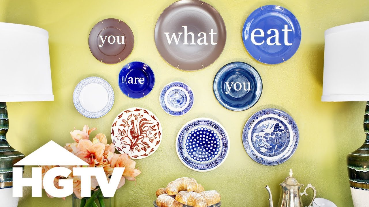 How to Repurpose Plates as Wall Art - HGTV - YouTube