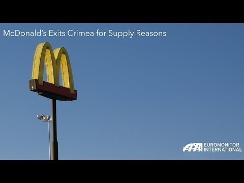 McDonald's Exits Crimea for Supply Reasons
