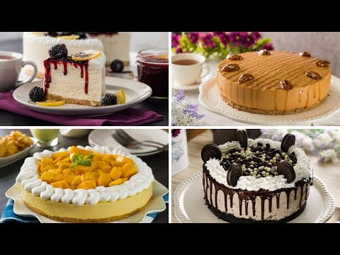 4 cheesecakes sin horno