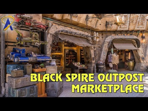 Black Spire Outpost Marketplace Shops at Star Wars: Galaxy's Edge