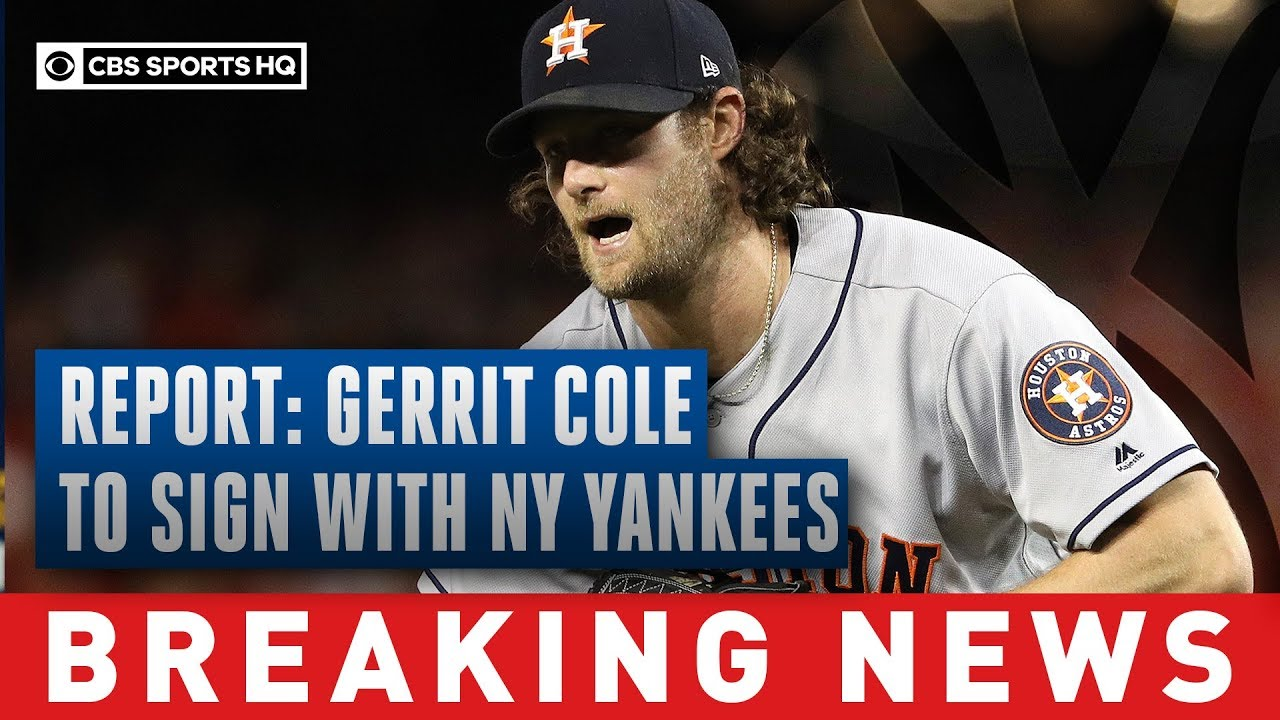 Gerrit Cole signs with Yankees for record-breaking $324 million deal