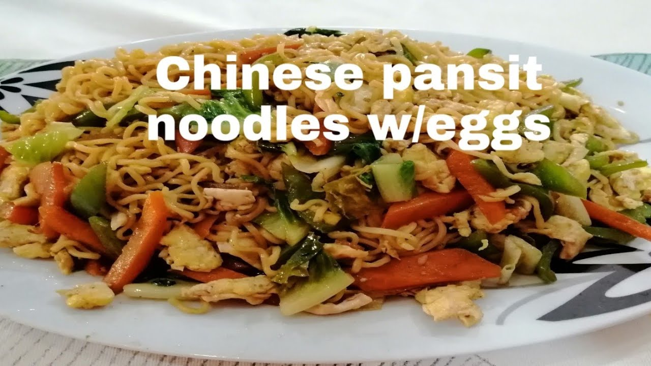 How to make Chinese pansit noodles / Mhemzkie ofw in dubai