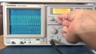 Intro, Review and Tutorial of Analog Oscilloscopes  Pt 1 - GW Instek GOS-630FC