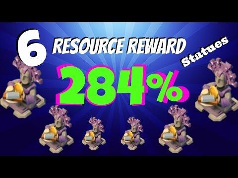 Boom Beach - Trick Hack Cheat - 6 Resource Reward Statues  284%