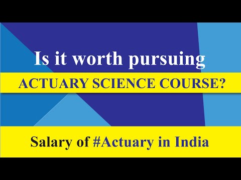 #Career : Salary Of #Actuary In India | Reality Check | Is It Worth Pursuing Actuary Science Course