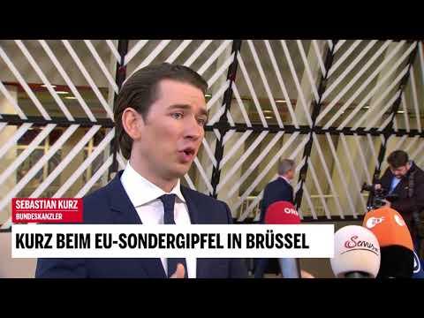 Kurz beim EU-Sondergipfel in Brüssel