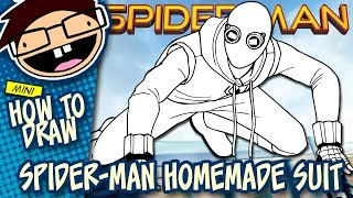 How to Draw SPIDER-MAN HOMEMADE SUIT (Spider-Man: Homecoming) | Narrated Easy Step-by-Step Tutorial