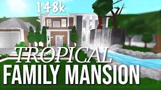 Tropical Family Mansion | 148k | Roblox Bloxburg Speedbuild