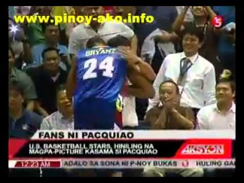 PACQUIAO STEALS THE SHOW, GREETS KOBE BRYANT! NBA WINS AGAIN! VS. PBA ALL-STARS