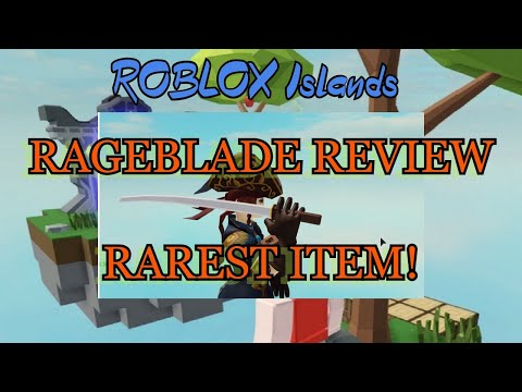 Roblox Skyblock Rage Blade Rage Blade Rarest Item Review Roblox Islands Skyblock Funzone Youtube