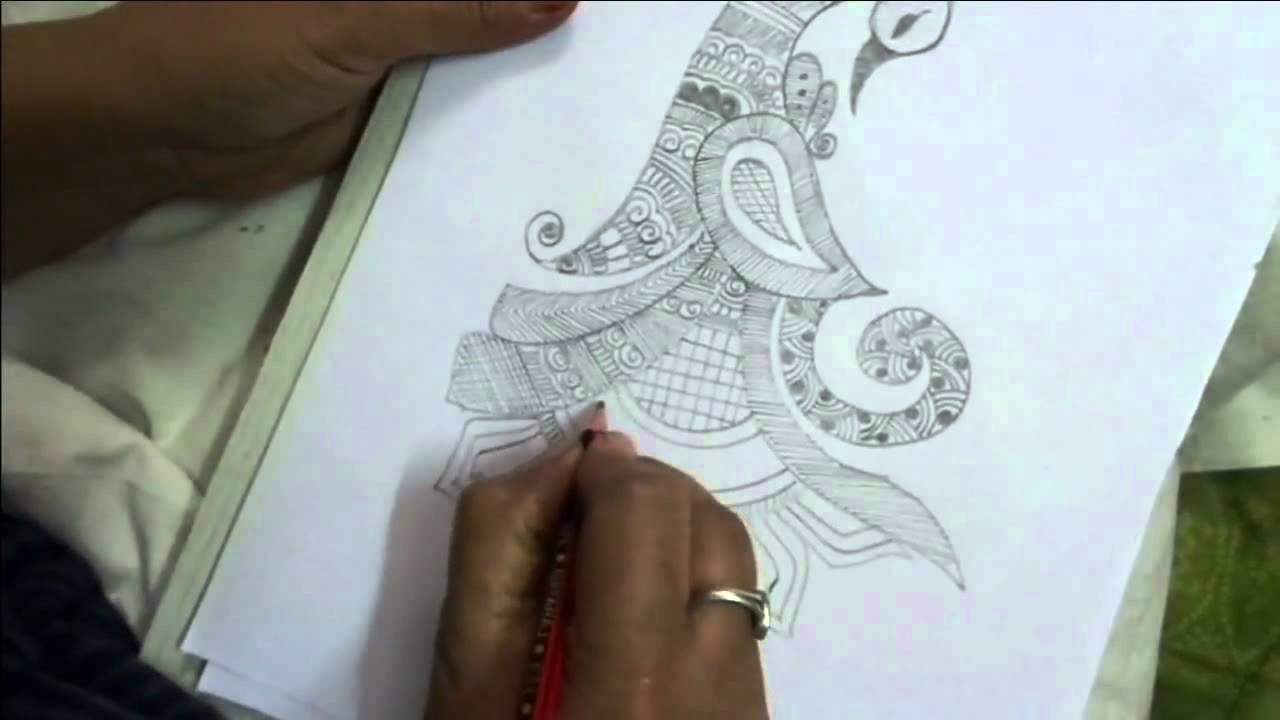 Mehndi Peacock Designs Drawings : Peacock draw mehndi shape k youtube