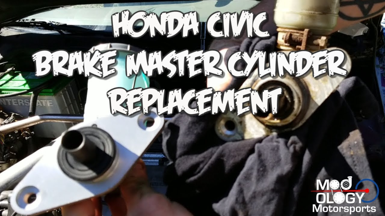 How to change a Civic brake master cylinder, and bench bleed