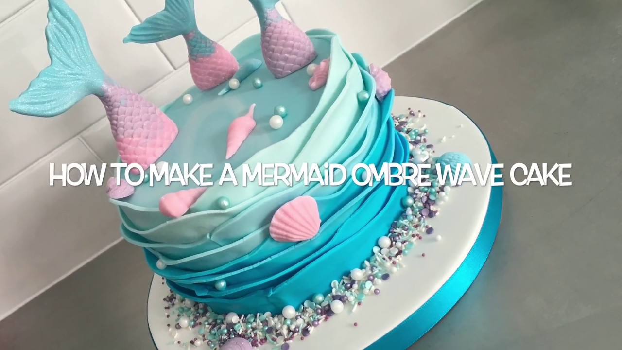 how to make a wedding cake youtube mermaid ombr 233 wave cake tutorial 15913