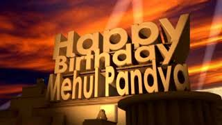 Happy Birthday Mehul Pandya