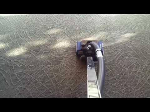 Carpet cleaning with the zipper