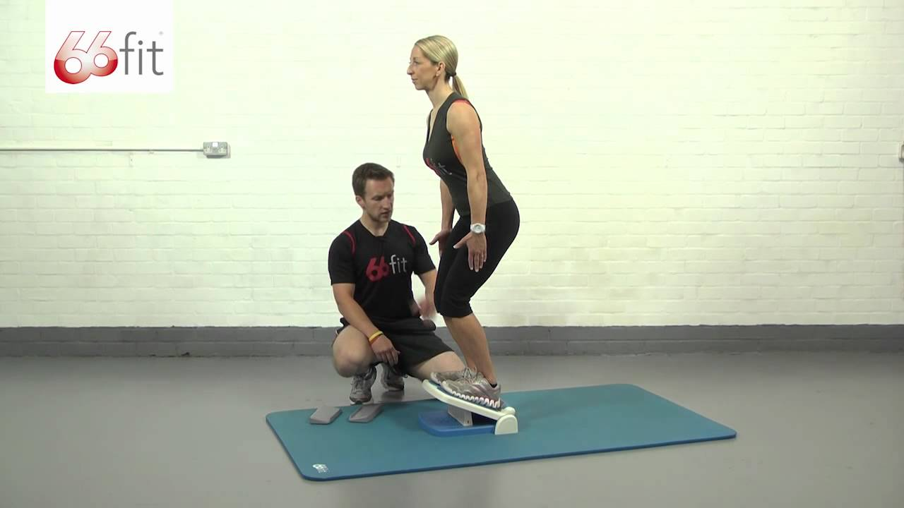Calf And Achilles Stretching Exercises Using The 66fit Multi Adjustable Slant Board Youtube