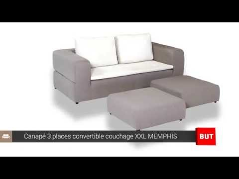 Canape 3 Places Convertible Couchage Xxl Memphis But Youtube