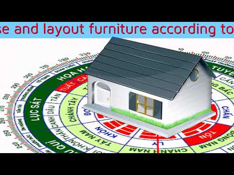 Determine the direction of the house and layout furniture according to Feng Shui